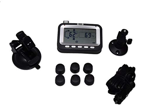 BELLACORP Tire Pressure Monitoring System TPMS 6BU (6) Sensors for Truck, Bus RV, or Dually (Includes Free Repeater)