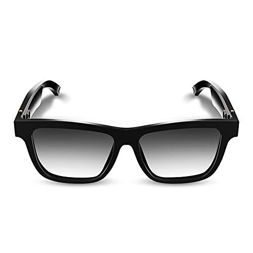 Gafas de sol de audio Bluetooth, UV400 polarizadas, gafas inteligentes manos libres con micrófono, adecuado para conducir viajes actividades al aire libre, unisex