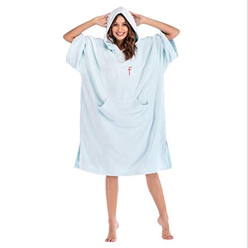 Honglimeiwujindian handdoek, poncho, voor volwassenen, met capuchon, surfhanddoek, oversized, poncho, strandstoel, badjas, microvezel, sneldrogend, binnen- en buitenactiviteiten
