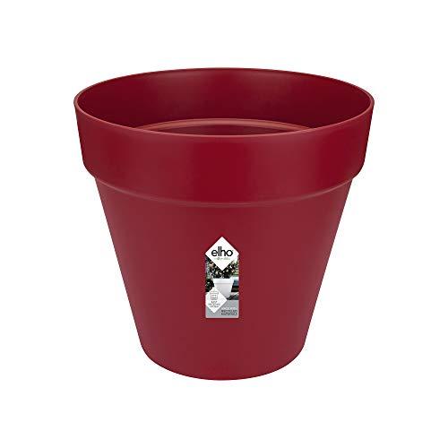 Elho Loft Urban Rond Roues 50 - Pot De Fleurs - Fruits Rouges - Extérieur - Ø 49 x H 44.2 cm