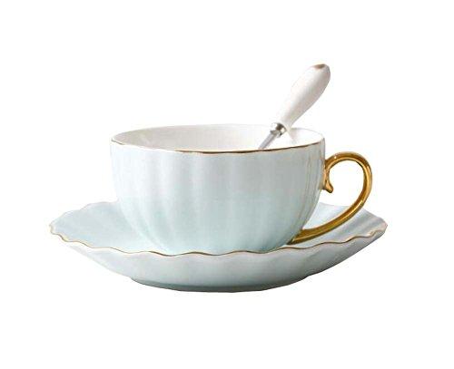 Hornet Park Taza de café/té Elegante de China con Plato y Cuchara E