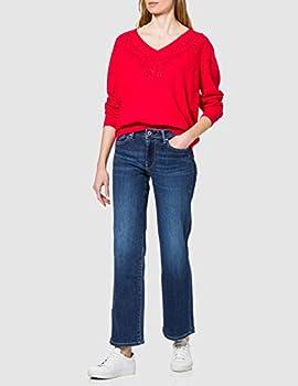 Desigual Jers_Gante Sweat, Rouge, Taille L Femme