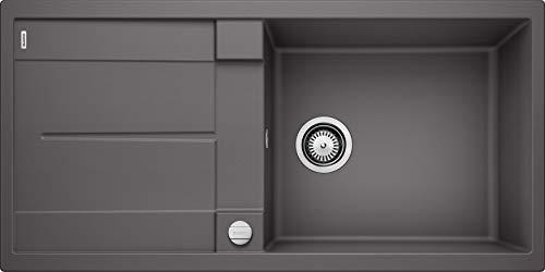 BLANCO METRA XL 6 S – Rechteckige Granitspüle aus SILGRANIT für die Küche – für 60 cm breite Unterschränke – Mit extra großem Becken – grau – 518881