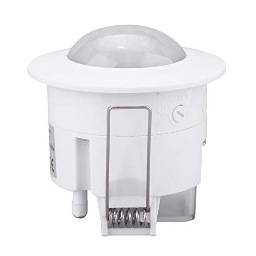 Gmkjh Lampada sensore, Interruttore Luce, Mini sensore di Movimento a infrarossi a soffitto Regolabile a 360 ° PIR sensore di Movimento Lampada Interruttore 220V