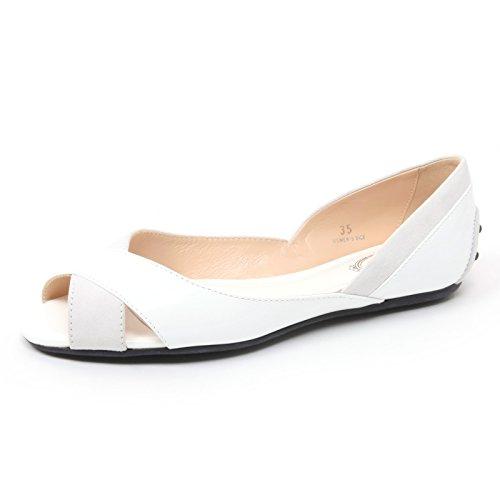 Tod's B4600 Sandalo Donna OLLI TI INCROCI Scarpa Bianco/Grigio Sandal Shoe Woman [35]