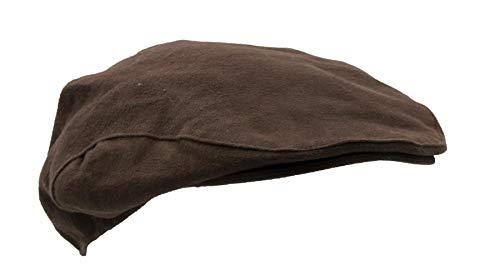Walker & Hawkes - Casquette plate imperméable - unisexe - moleskine - pour la campagne - Marron - L (59cm)