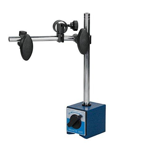 ECD Germany Magnet-Messstativ - mit 2 Gelenken - verstellbarer Stange 231 mm bis 360 mm - und Dauermagnet - für Messuhr Messuhrhalter - Messstativ