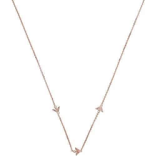 Emporio Armani EG3502221 - Collar para mujer de plata de ley 925, rosa, 42 cm