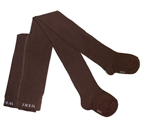 Weri Spezials Baby- und Kinderstrumpfhose für Jungen und Mädchen Uni Glatt in verschiedenen modernen Farben. (110/116, Haselnuß)