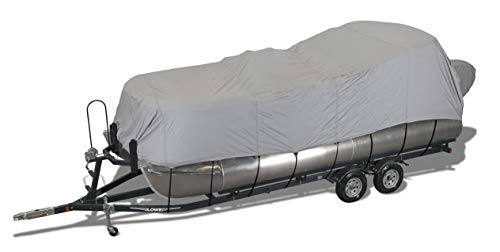Great Price! Seachoice 97831 Semi-Custom Cover for Pontoon with Rails and Top – Haze Gray – Fits...