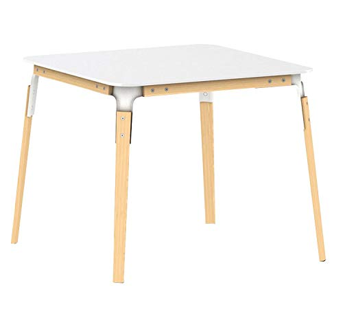 Magis Steelwood Table 145x145 cm Table Hêtre naturel/Blanche