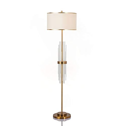 ZZL Lamparas de Pie Lámpara de pie Moderna Moderna contemporánea de pie, lámpara de pie, lámpara de pie con Metal Pesado a Base de iluminación de Sala de Estar Dormitorio (Color : Brass)