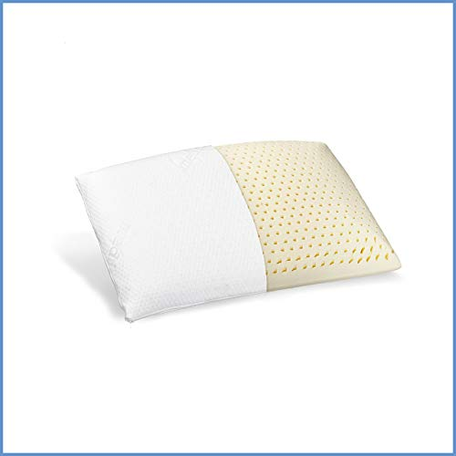 Ravensberger Matratzen® Natur Latex-Kissen 50% Naturkautschuk| Made IN Europe | Bezug aus Baumwolle 40 x 80 cm
