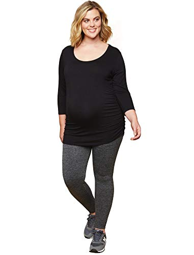 Product Image of the Motherhood Maternity Women's Maternity Full Length Fleece Lined Seamless...