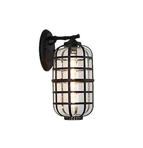 YSJ LTD antieke wandlamp, lantaarnglas wandlamp waterdicht antieke inbouw wandlampen buitenwandlampen winkels cafés buitenwandlamp van metaal IP 65