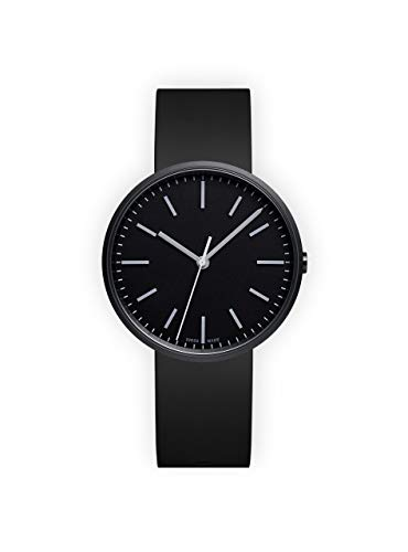 Uniform Wares Unisex Herren & Damen M37 PreciDrive Three Hand Uhren in PVD Black with Black Nitrile Rubber Strap