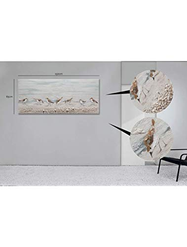 Casarreda Store Dipinto Uccellini in Rilievo Realizzato a Mano 65x150 - BUBOLA E NAIBO