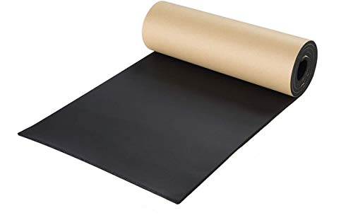 """NATGAI Sponge Neoprene with Adhesive Foam Rubber Sheet 1/4"""" Thick X 12"""" Wide X 54"""" Long, Cut to Multiple Dimensions and Lengths - DIY, Gaskets, Cosplay, Costume, Crafts"""