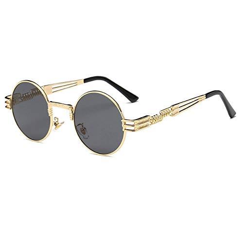 FSJCB Gafas De Sol Sonnenbrille Männer Runde Sonnenglas Beschichtung Gläser Metall Vintage Lentes Von Männlich