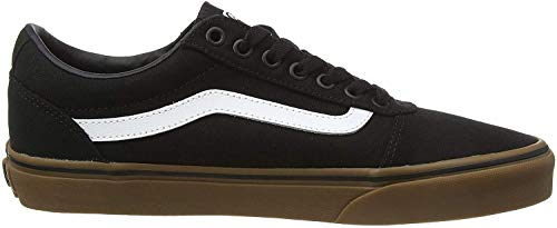 Vans Ward Canvas, Zapatillas para Hombre, Negro (Canvas/Black/Gum 7Hi), 43 EU