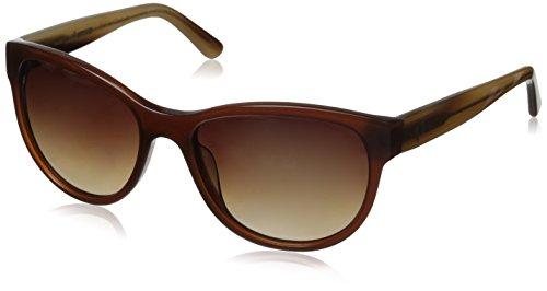 Hang Ten Gold HT Klassische rechteckige HTG1041 C2 polarisierte runde Sonnenbrille für Damen