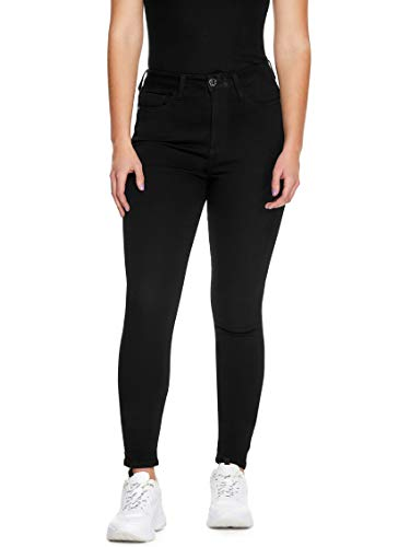 GUESS Factory Women's Simmone Super High-Rise Denim Curvy Skinny Jeans
