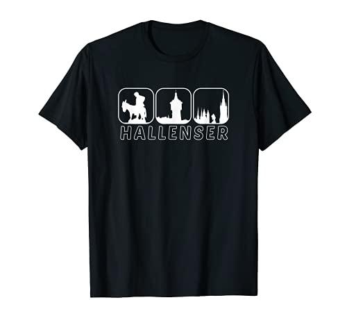 Halle Saale Hallenser Geschenk Idee Design T-Shirt