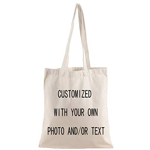 Personalized Custom your own canvas Tote bag - Add your logo, picture, text - Reusable canvas - Shoppingbag, Personalized bag,Custom tote bag,Gifts for Women, Christmas bag