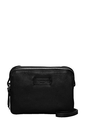 Liebeskind Berlin Damen Essential Camera Bag Small Umhängetasche, Schwarz (Black), 7x14x20 cm
