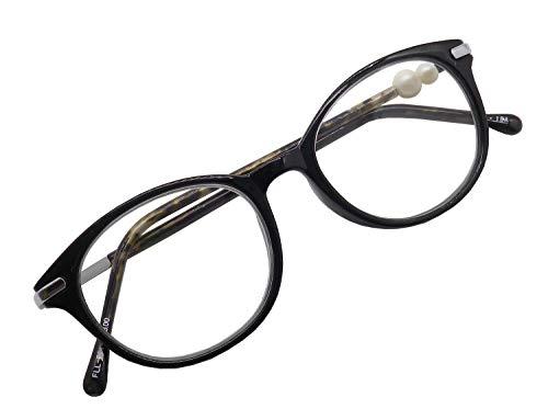 おしゃれ 老眼鏡 かわいい ボストン クラシック 老眼鏡にみえない リーディンググラス シニアグラス レディース 女性向き 30代 40代 べっこう柄 黒 FLL-001-1-1.5