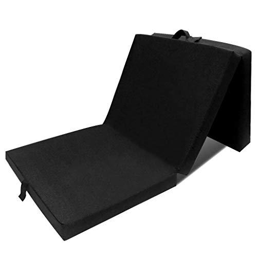 FAMIROSA Colchón de Espuma Plegable 190 x 70 x 9 cm Negro