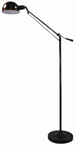 Verilux Brookfield Natural Spectrum Floor Lamp, All Metal Apothecary Lamp Inspired Design and Adjustable Head