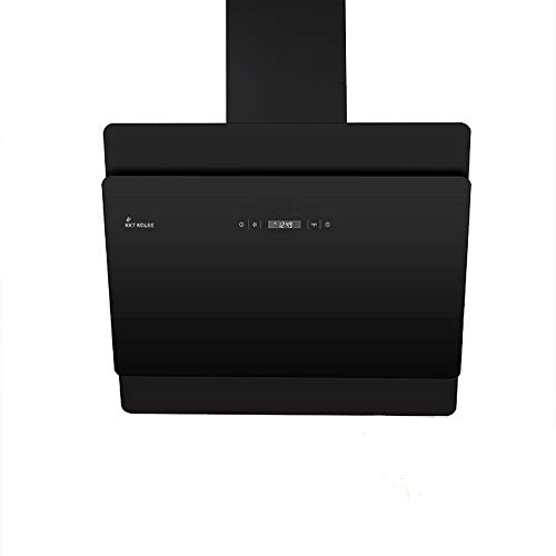 KKT KOLBE Kopffreie Dunstabzugshaube/Wandhaube / 60cm / Edelstahl/schwarzes Glas/Extra-leise / 4 Stufen/LED-Beleuchtung/TouchSelect Sensortasten/Nachlauf-automatik / SOLO606S