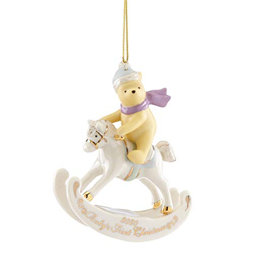 Lenox 2020 Winnie The Pooh Baby's 1st Christmas Ornament, 0.40 LB, Multi