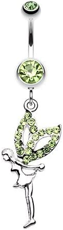WildKlass Jewelry Fairy Dazzle 316L Surgical Steel Belly Button Ring