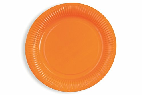 Galileo Casa 2415372 Set Assiettes, Papier, Orange, 10 unités