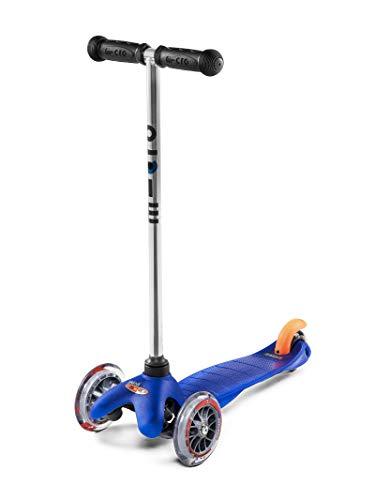 Micro Mobility - Trottinette Mini Trottinette 3 Roues légère et Robuste - Navigation par Transfert de Poids - Apprentissage mobilité et équilibre - Couleur Bleue - À partir de 3 Ans