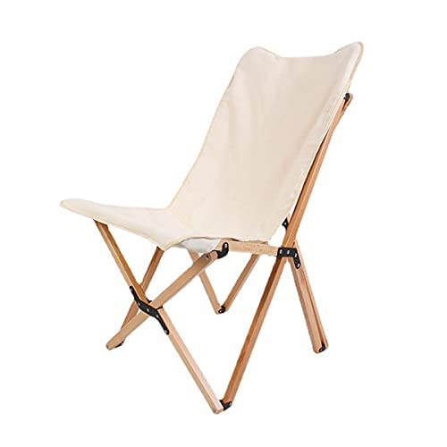EXEDSCEND Ultraligero Plegable Perezoso Silla de Acampada Taburete Pesca Asiento de Picnic, sillón reclinable portátil sillón reclinado con cojín Pliegue de Madera Perezosa de Madera Relajante