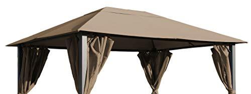 QUICK STAR Ersatzdach für Pavillon Paris 3x4m Pavillondach Taupe