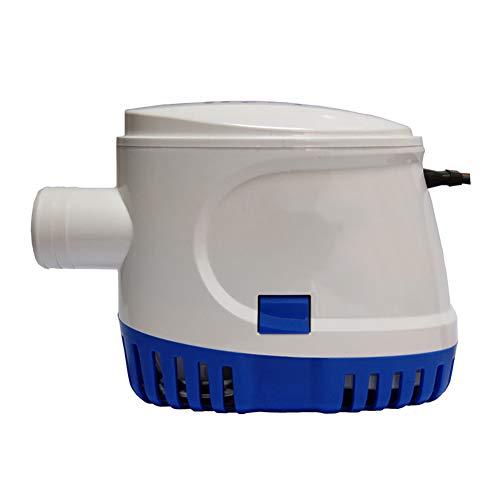 ZDYLM-Y Submersible Water Pump Dirty 12V 24V Contrôle Automatique Pompe de vidange, Pompe de cale, Facile à Nettoyer, Blanc,12V