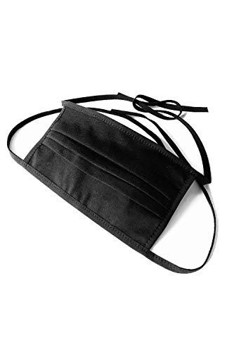 Demoniq Herren Damen KinderBaumwollmaske 1-lagig zum binden schwarz - Standard 100 by Oeko-TEX