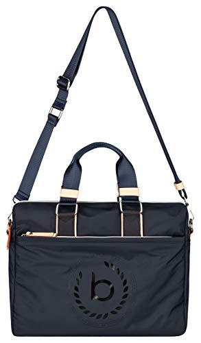 """Bugatti Lido Businesstasche für Damen mit 15"""" Laptopfach, Arbeitstasche Aktentasche Große Bürotasche, Blau"""