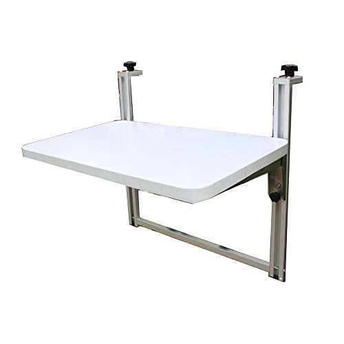 Mesa plegable de elevación para balcón de pequeño bar escritorio fácil de colgar escritorio de ordenador 100*35CM teca
