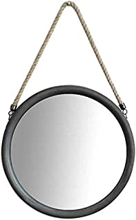 Daily Necessities Round Wall Mirror Hanging with Hanging Hemp Rope Vanity Mirror Circle Make Up Cosmetic Mirror