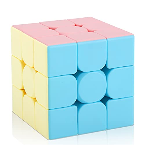 Speed Cube Rubiks Cube 3x3 Puzzle Game Magic Cube 3x3x3 Smooth Puzzle Cube Toy for Kids Ages 6 and...