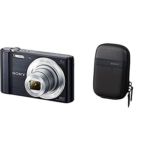 Sony Dsc-W810 Fotocamera Digitale Compatta Con Sensore Super Had Ccd Da 20.1 Mp, Zoom Ottico 6X, Video Hd, Nero & Lcstwp/B Custodia Da Trasporto Per Cyber-Shot Serie W E T, Nero
