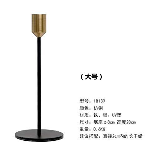 CFLFDC Kandelaar, galvanotechniek, van ijzer voor bruiloften, meubels voor huis, feest, tafeldecoratie en geschenken C32-AH Candlestick – groot