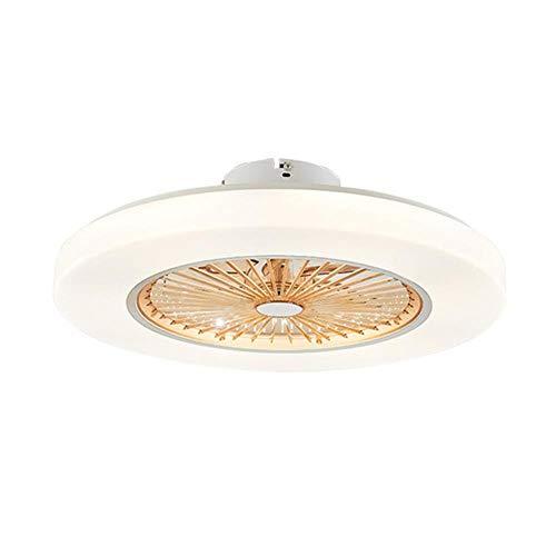 Deckenleuchte Deckenventilator Mit LED-Beleuchtung, 72 W Moderner Deckenventilator 58 cm LED-Deckenventilatoren Dünn dimmende Fernbedienungslampe Unsichtbare Blätter, Braun