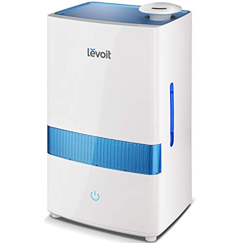 LEVOIT Cool Mist Humidifier, 4.5L Ultrasonic Humidifiers for Bedroom and Babies, Large-Capacity Vaporizer for Large Room, Whisper-Quiet, Auto Shutoff, Lasts up to 40 Hours, 2-Year Warranty