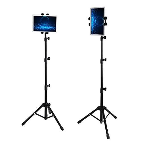 Medla UNHO universal Tablet Halterung Stativ Stativständer 360 ° drehbar Tragbar Höhenverstellbar 57-137cm Teleskop-Halterung für iPad Handy und andere 4.7-12.9 Zoll Tablets mit Tragetasche